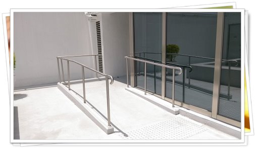 outdoor steel barrier